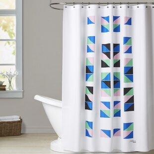 Ashlee Rae Geometric Tracks Shower Curtain