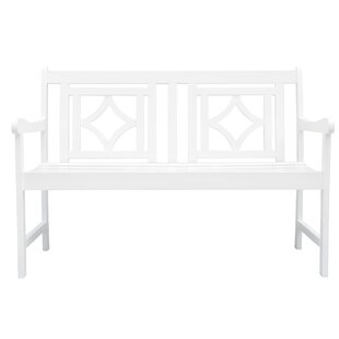 Mahler Patio Diamond Wooden Garden Bench by Darby Home Co