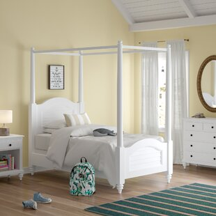 Harrison Twin Canopy 3 Piece Bedroom Set by Beachcrest Home