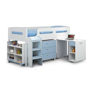 Adaline Single Mid Slepper Loft Bed With Drawers And Desk By Harriet Bee