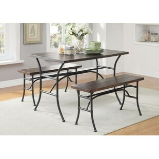 Brune Metal 3 Piece Dining Set