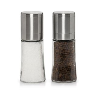 Dual Plastic Salt & Pepper Grinder Set