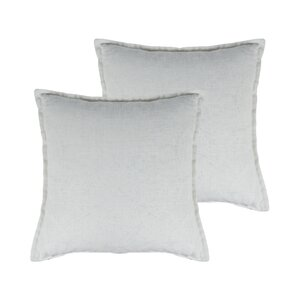 Lombard Reversible Decorative Linen Throw Pillow (Set of 2)