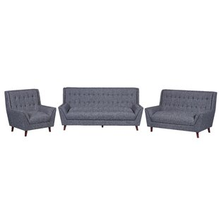 Susan 3 Piece Living Room Set by Wrought Studio