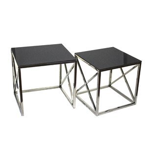 Angelina 2 Piece End Table Set