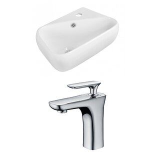 Ceramic Vessel Bathroom Sink with Faucet and Overflow ByRoyal Purple Bath Kitchen