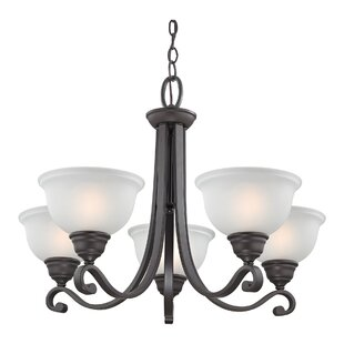 Halvorsen 5-Light Shaded Chandelier by Darby Home Co