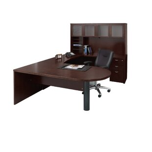 Mira Series 5-Piece U-Shape Desk Office Suite by Mayline Group Herry Up