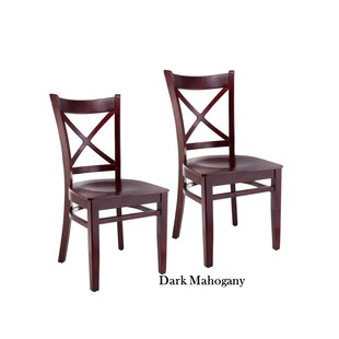 Helsel Cross Back Solid Wood Dining Chair (Set of 2) by August Grove
