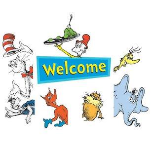 2 Piece Dr. Seuss Welcome Go-Arounds Paper Disposable Door Border Set