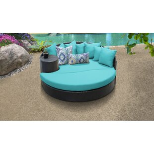 Meier Patio Daybed with Cushions by Rosecliff Heights