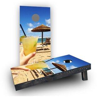Custom Cornhole Boards Margaritas on the Beach Cornhole Boards (Set of 2)