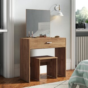 Cogen Dressing Table Set With Mirror By 17 Stories