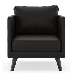 Orren Ellis Schill Vegan Leather Armchair