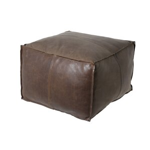 Bob Leather Ottoman by Light & Living