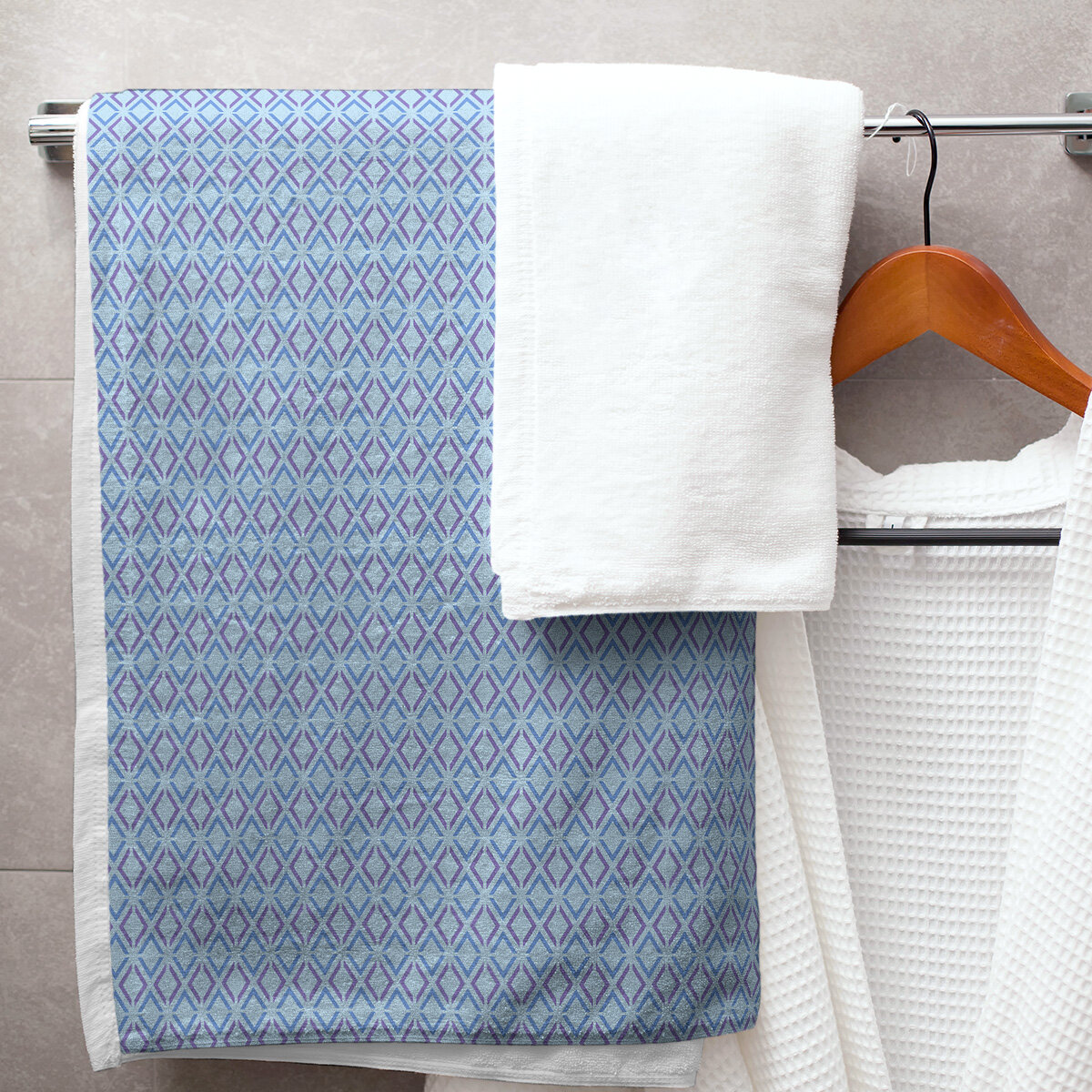 East Urban Home Katelyn Elizabeth Arrow Diamonds Bath Towel Wayfair
