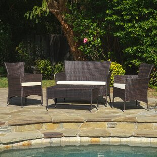 Alcibiades 4 Piece Deep Seating Group with Cushion