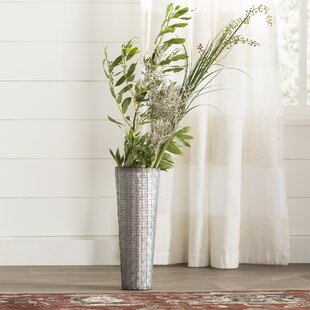 Galvanized Metal Table Vase