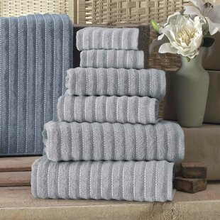 Aponte 6 Piece Turkish Cotton Bath Towel Set