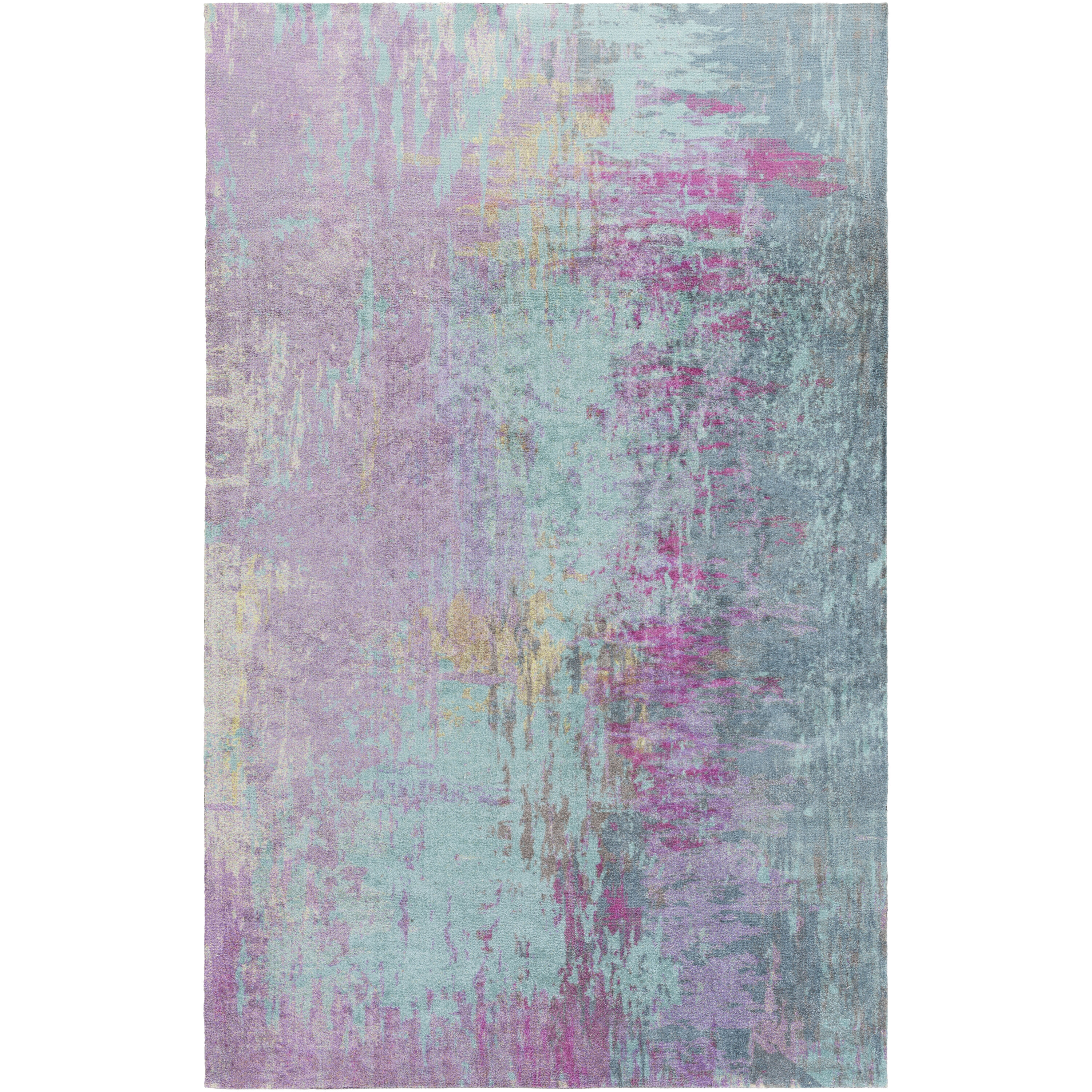 Mercury Row Arthurs Bluepurple Area Rug Reviews Wayfair