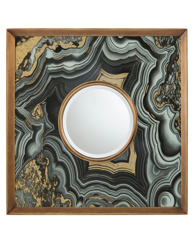 John Richard Agate Modern Contemporary Beveled Accent Mirror Wayfair