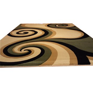 Read Reviews Hand-Carved Green/Biege/Black Area Rug ByRug Tycoon
