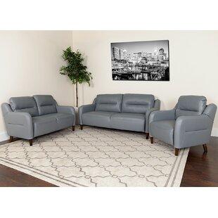 Bostwick Upholstered Bustle Back 3 Piece Living Room Set by Brayden Studio