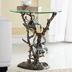Crabs and Coral End Table by SPI Home