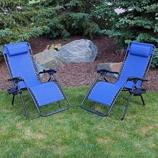 Freeport Park Maci Reclining Zero Gravity Chair (Set of 2)