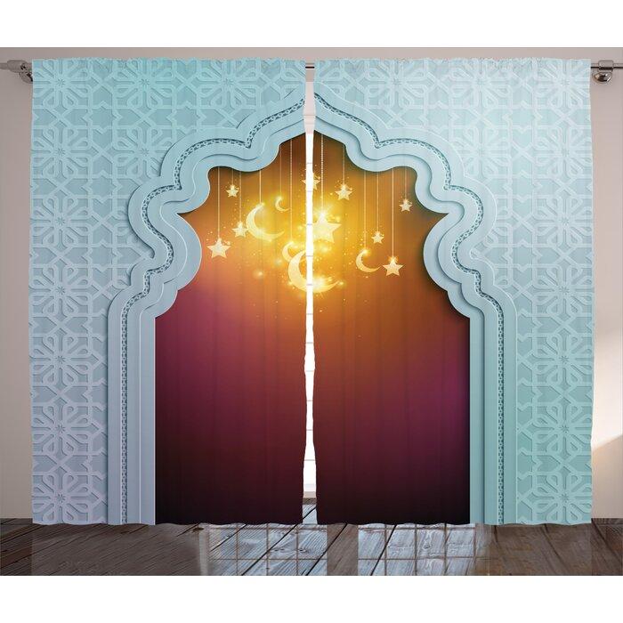 Broxburne Moroccan Mosque Door with Shiny Star and Moon Ornaments Arabic on jerusalem window, jesus window, valentines day window, thank you window, fashion window, new year window,
