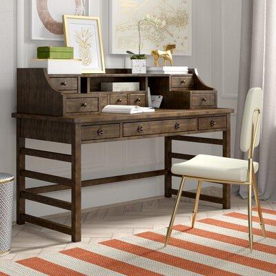 ArbyrdLeg Secretary Desk With Hutch Color: Brushed Acacia by Greyleigh