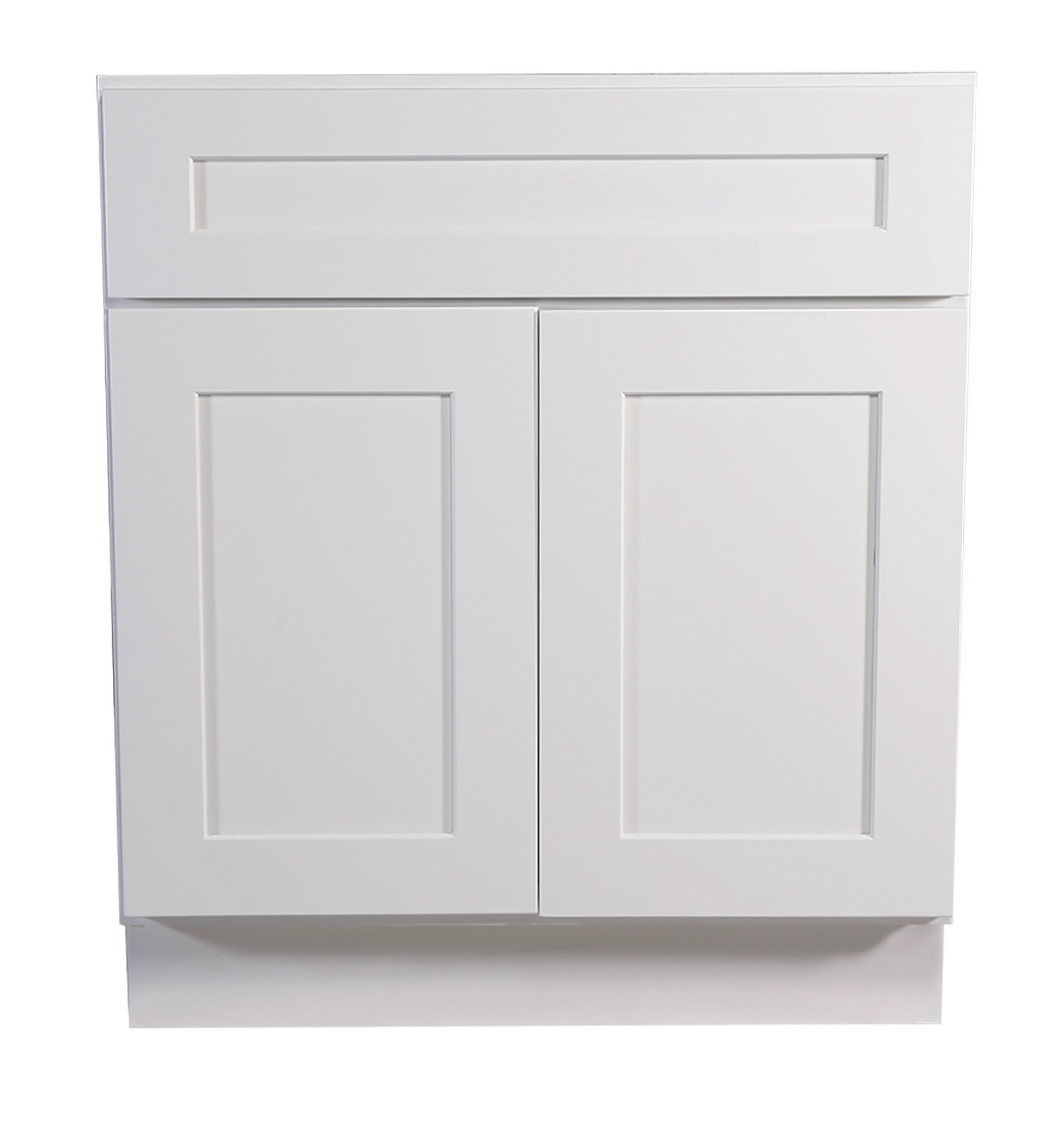 Ebern Designs Frits Ready To Assemble 24 X 34 5 X 24 In Base Cabinet Style 2 Door With 1 Drawer In White Wayfair