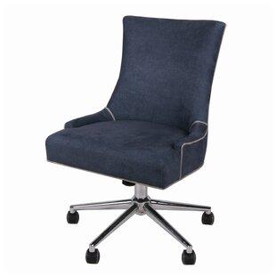 Gracie Oaks Minisink Denim Office High-Back Desk Chair
