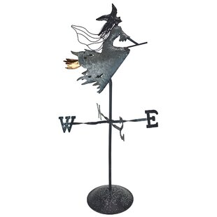 Wonderful Wicked Witch Bewitched Tabletop Metal Weathervane