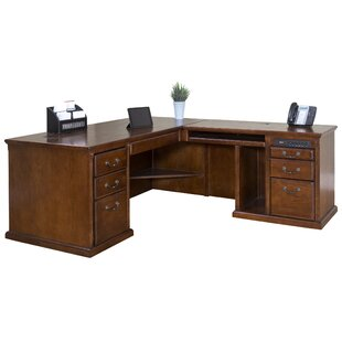 Darby Home Co Reynoldsville Office Burnish Right 2 Piece L-Shaped Desk Office Suite