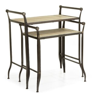 Gracie Oaks Neuville Farmhouse 2 Piece Nesting Tables