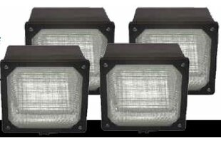 Nomad 19-Watt LED Dusk to Dawn Outdoor Security Wall Pack (Pack of 4) (Set of 4) by Lumight