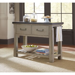 Skipton 2 Drawer Kitchen Island Gracie Oaks