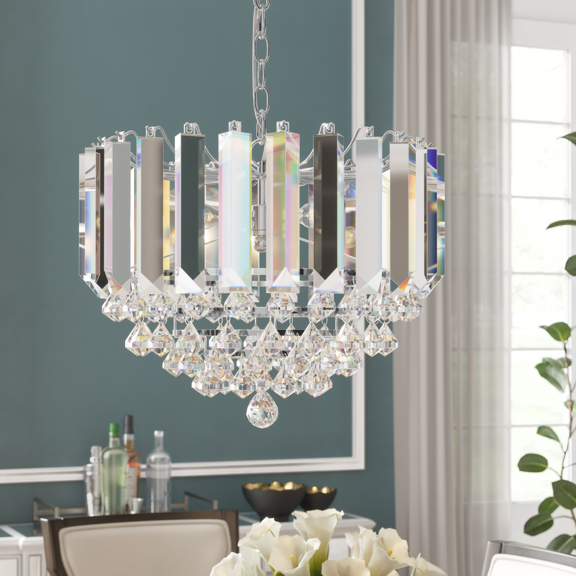 Birchley 9-Light Crystal Chandelier