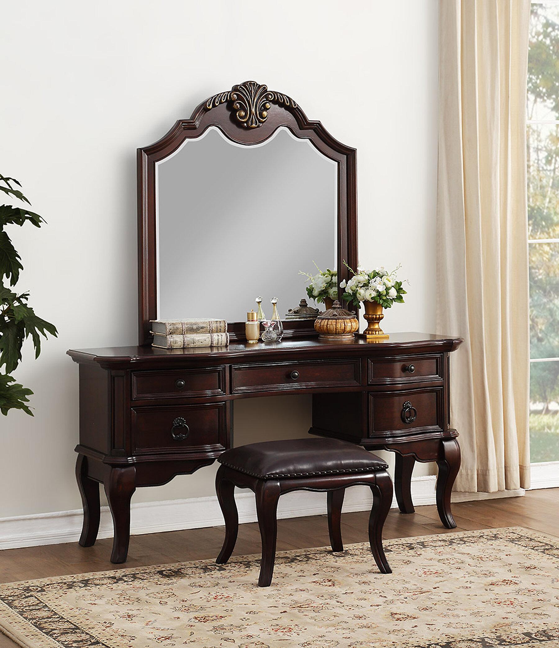 Astoria Grand Shea Vanity Set With Mirror Reviews Wayfair