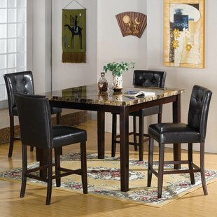 Studley Faux Marble 5 Piece Dining Set