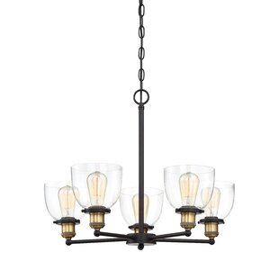 Wrought Studio Thirza 5-Light Shaded Chandelier
