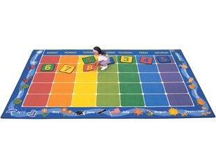 Comparison Theme Calendar Area Rug ByCarpets for Kids