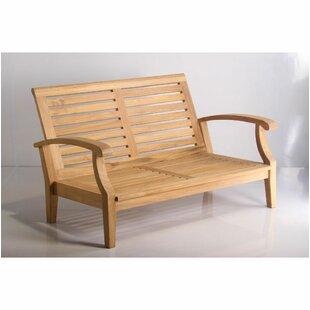 Phenomenal Lowery Deep Seating Teak Loveseat With Sunbrella Cushions Short Links Chair Design For Home Short Linksinfo