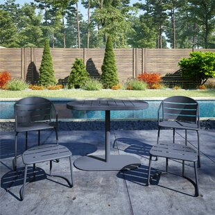 Courtois Patio 5 Piece Bistro Set by Turn on the Brights