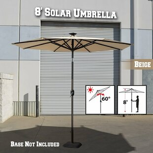 Freeport Park Lesley Solar Light Outdoor 8' Market Umbrella
