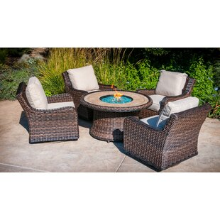 Lovett 5 Piece Rattan Sofa Seating Group With Cushions by Bayou Breeze Read Reviews