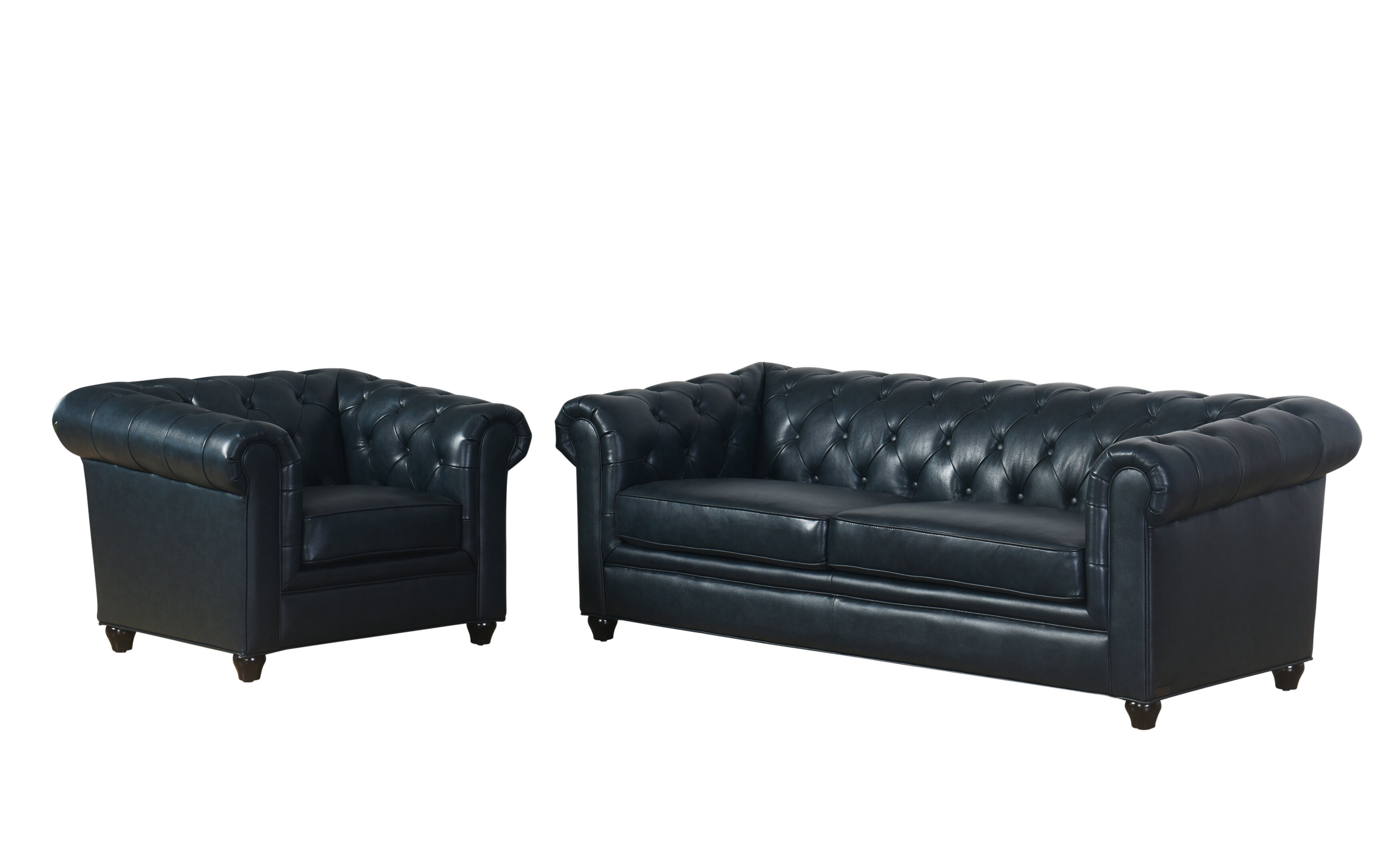 Darby Home Co Andria 2 Piece Leather Chesterfield Living Room Set ...