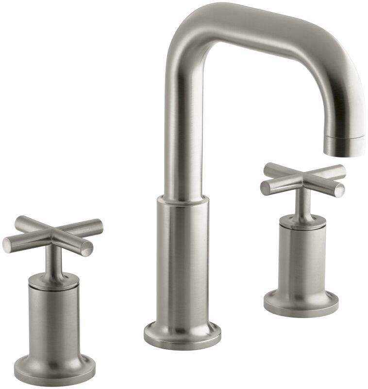 Bathroom Faucet Not Flowing kohler purist deck-mount bath faucet trim for high-flow valve with