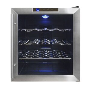 16 Bottle Single Zone Freestanding Wine Cooler by Vinotemp